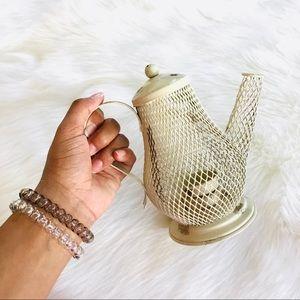 Ivory Rustic Farm House Tea Light Holder